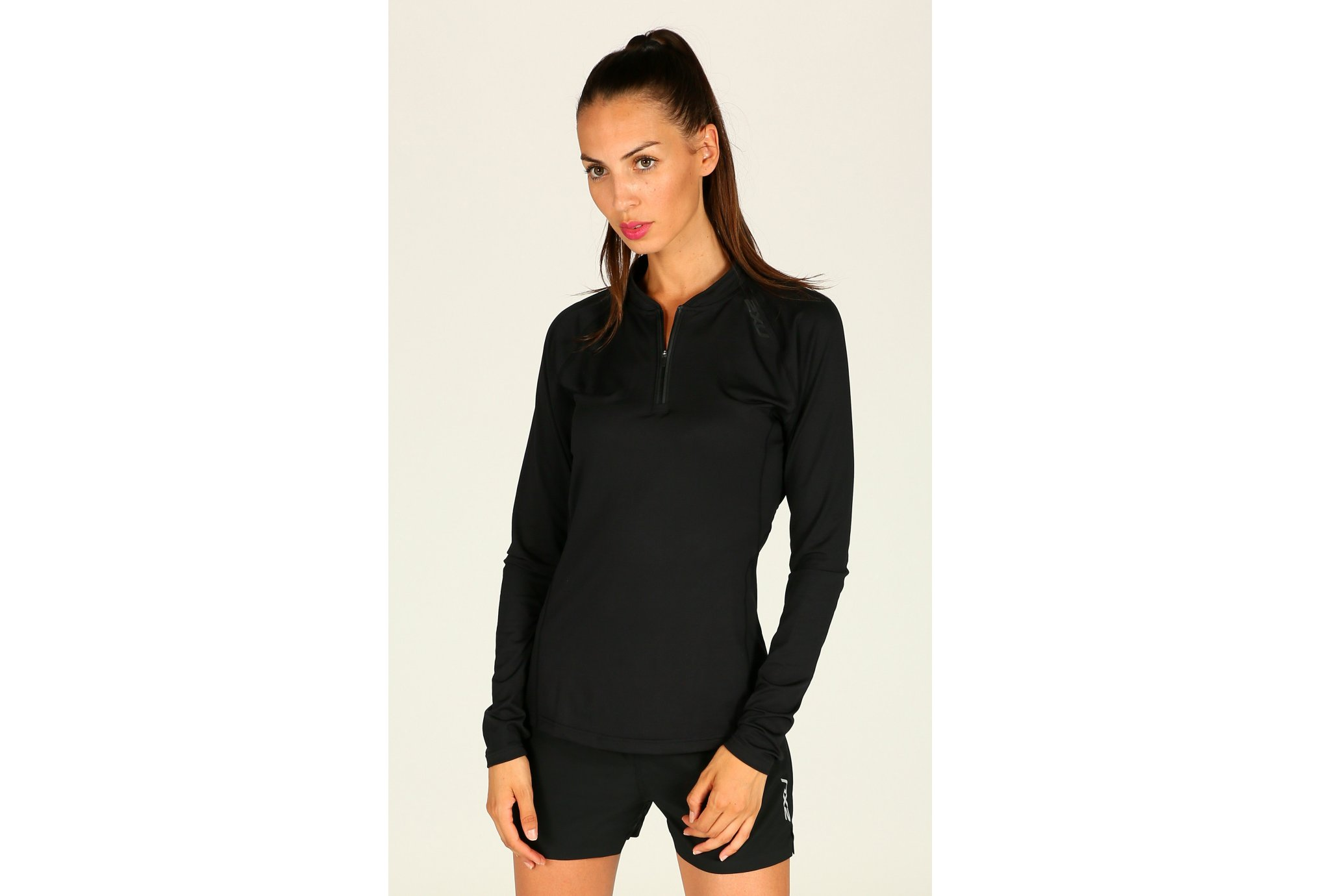 2xu Maillot hyoptik 1/4 zip w vêtement running femme