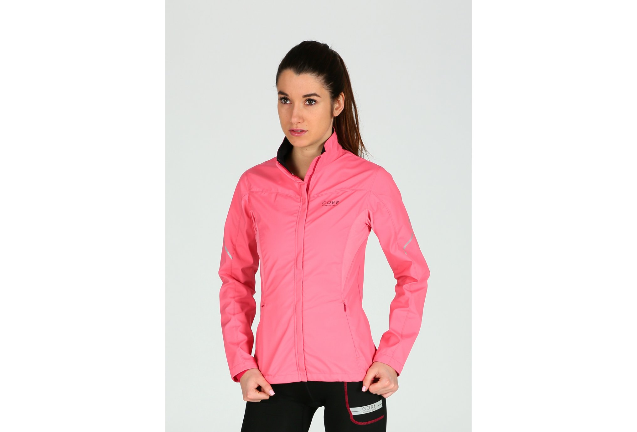 Gore Running Wear Veste Essential Partial Windstopper W vêtement running femme