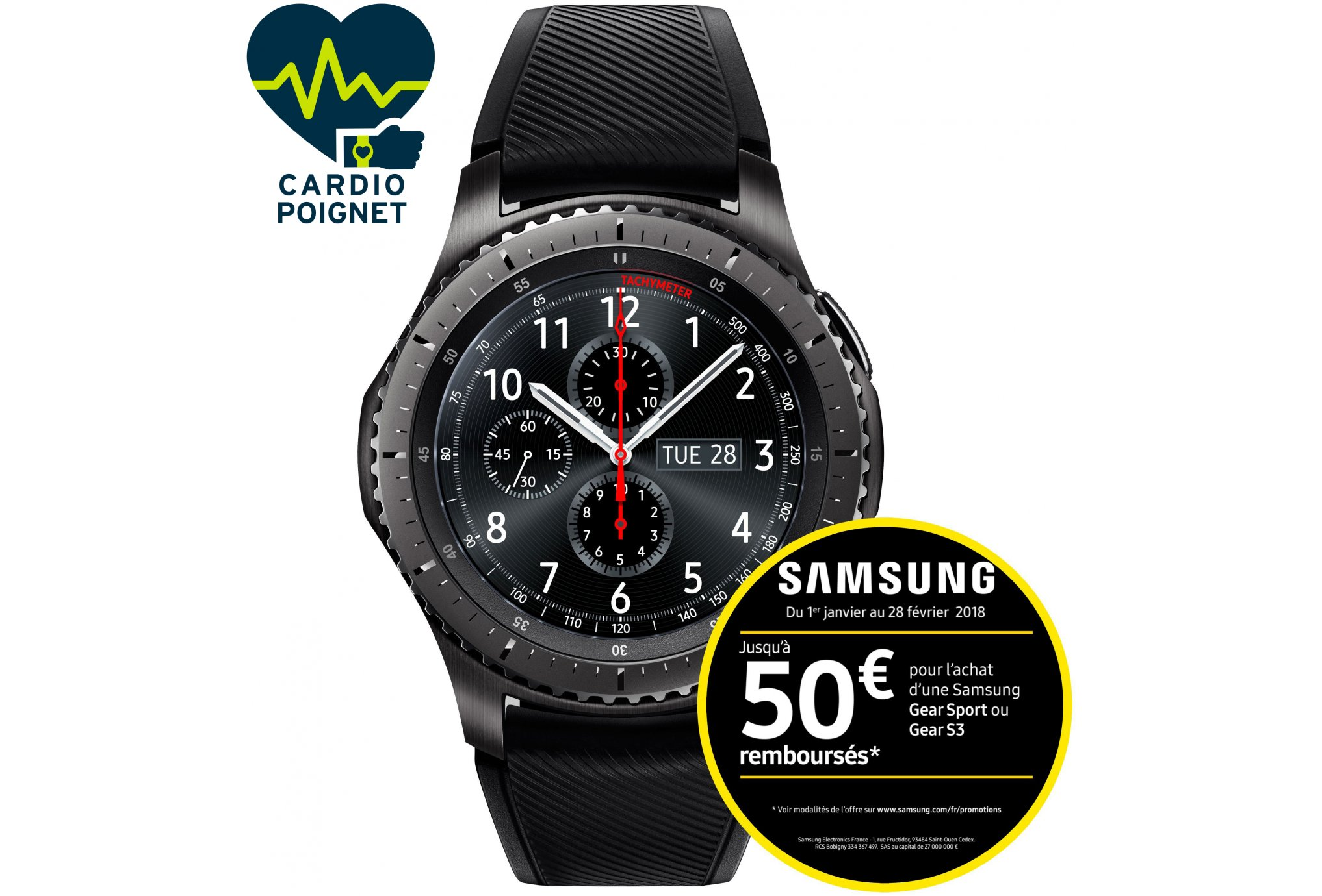 Samsung Gear S3 frontier Cardio-Gps