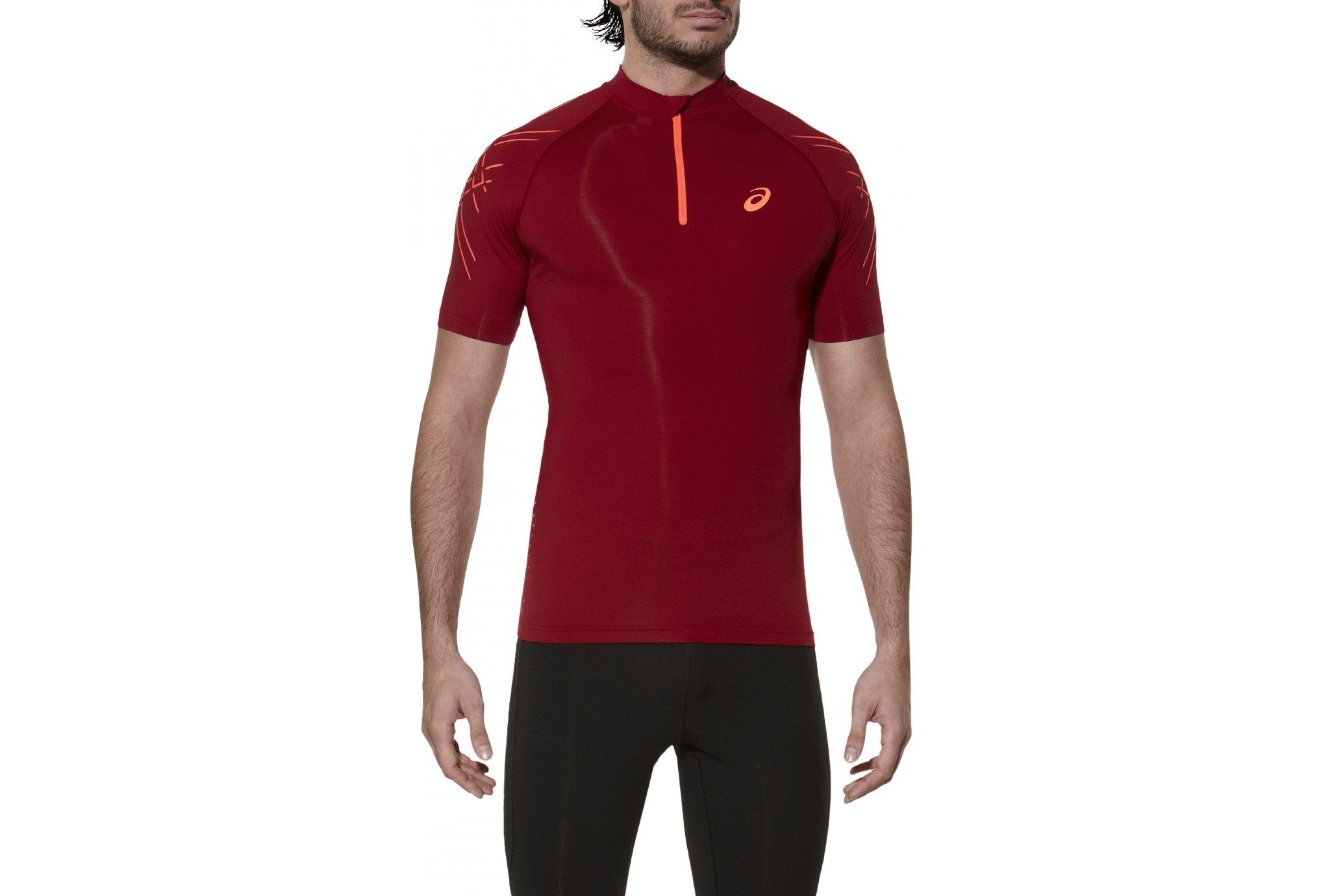 Asics Tee-Shirt inner muscle 1/2 zip m vêtement running homme