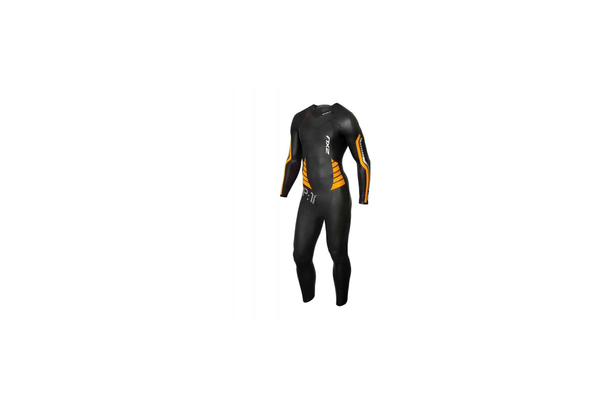 2xu Combinaison p:1 propel wetsuit (black/flame orange) m vêtement running homme