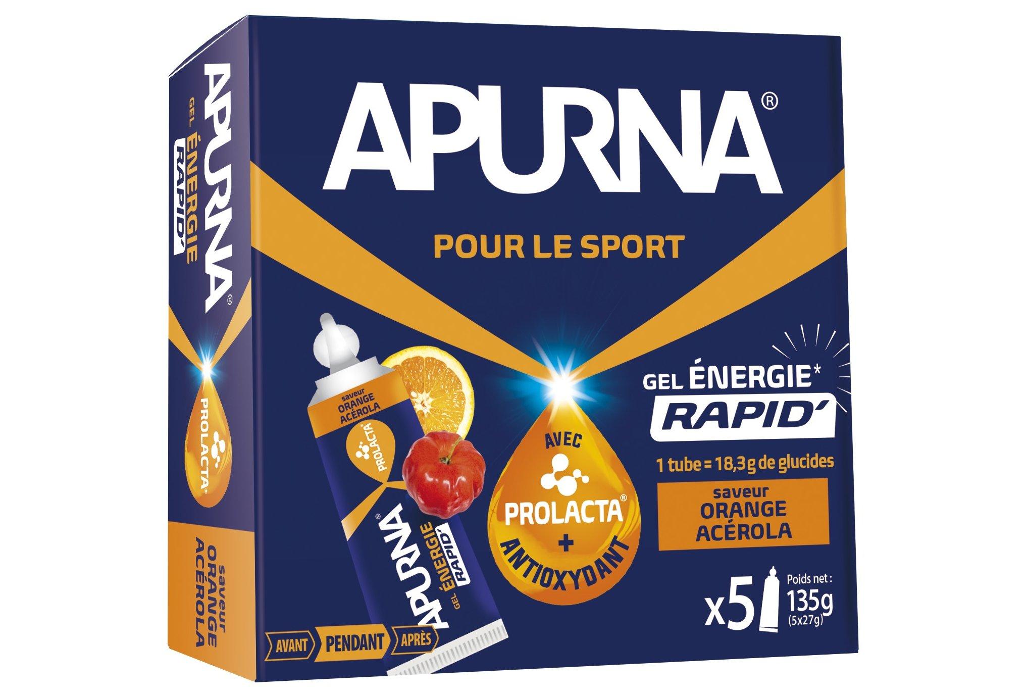 Apurna Etui gels energétiques - orange acérola diététique gels