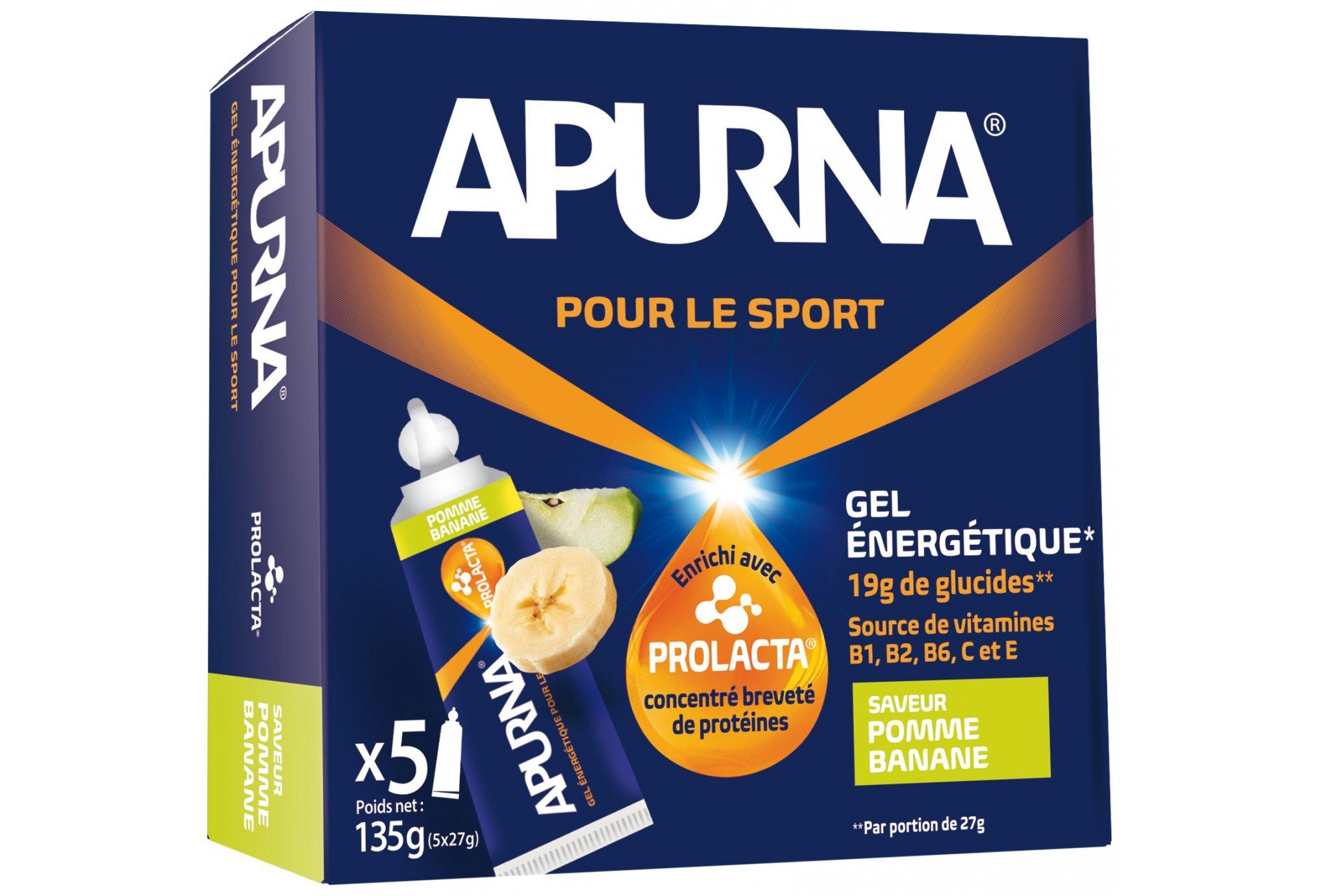 Apurna Etui gels energétiques - pomme/banane diététique gels