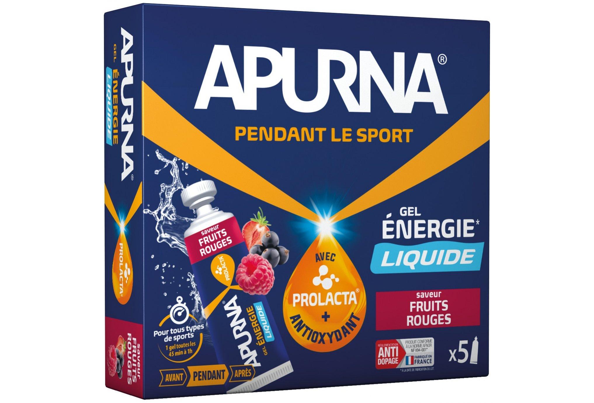 Apurna Etui gels energétiques liquide - fruits rouges diététique gels