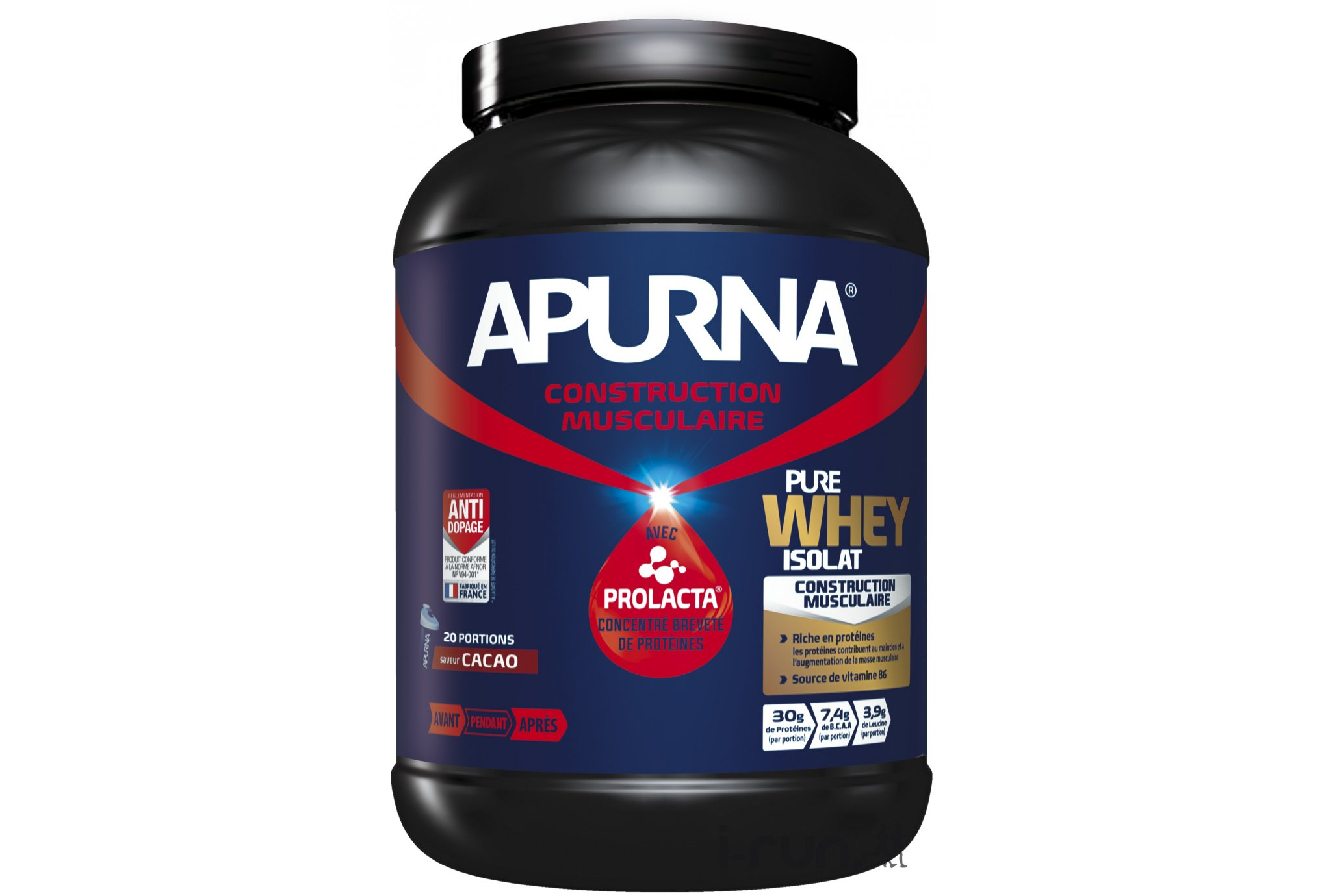 Apurna Pure Whey Isolat - Cacao Di�t�tique Prot�ines / r�cup�ration