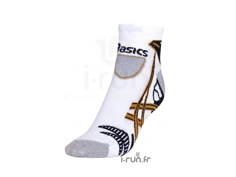 asics kayano sock blanche or et noire pas cher accessoires running chaussettes en promo. Black Bedroom Furniture Sets. Home Design Ideas