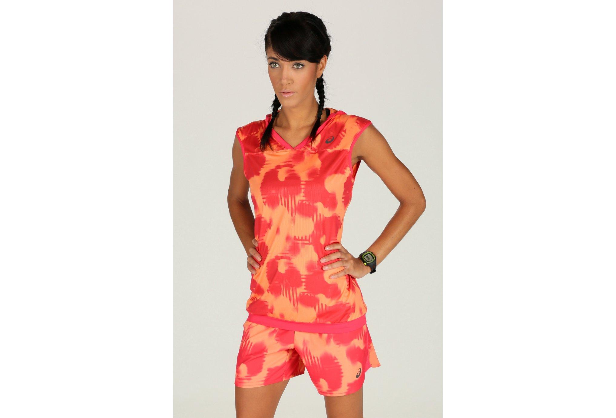 Asics Tee-shirt FuzeX Hoodie W vêtement running femme