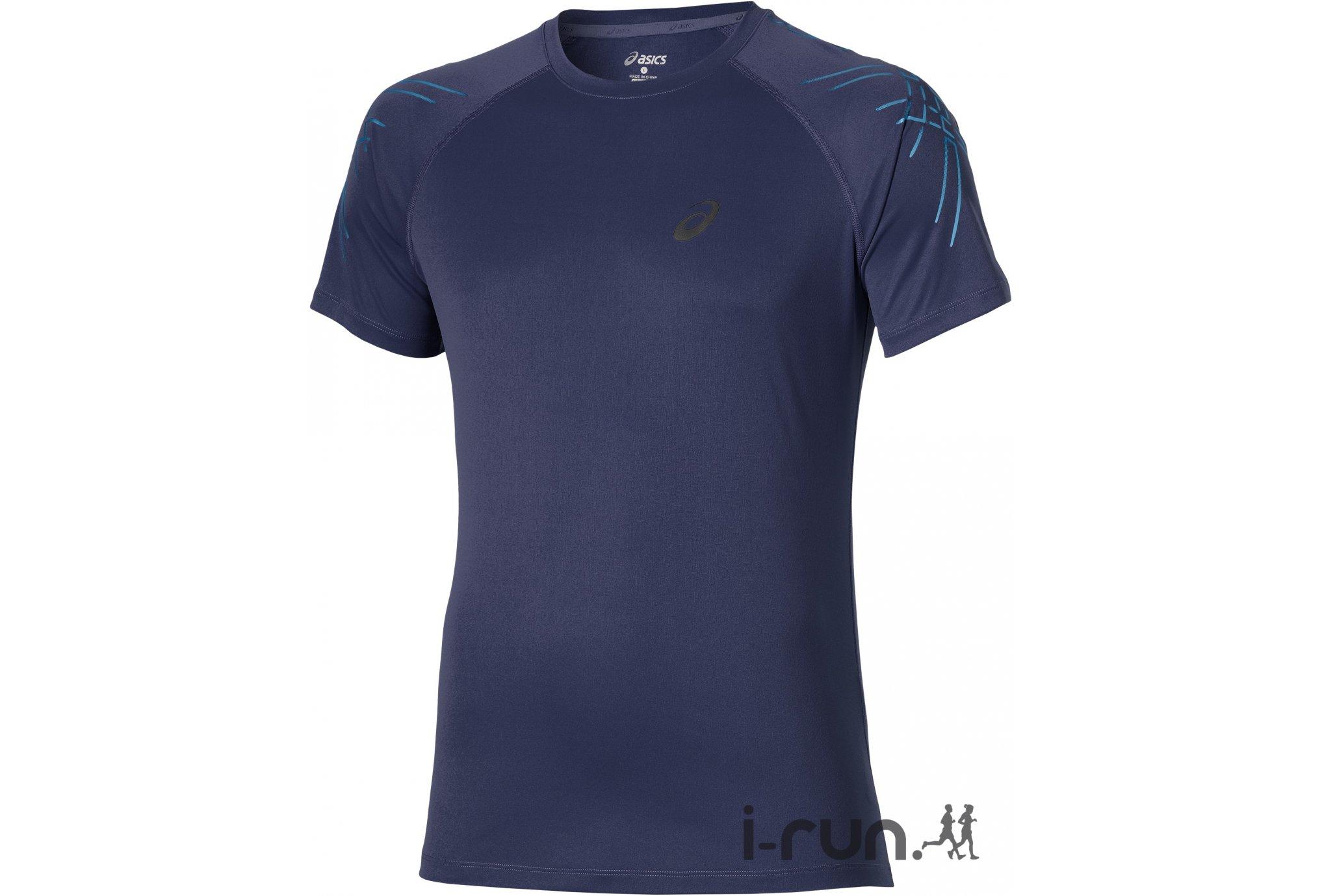 Asics Tee-shirt Stripe Top M vêtement running homme