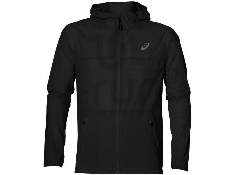 asics waterproof jacket m pas cher v tements homme running vestes coupe vent en promo. Black Bedroom Furniture Sets. Home Design Ideas