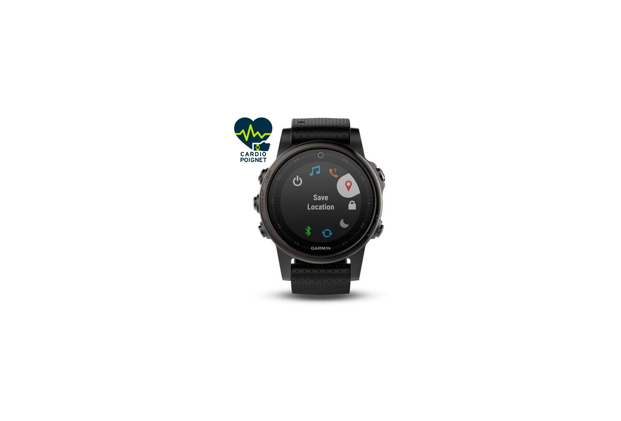 Garmin Fenix 5 S GPS Multisports Sapphire Black Cardio-Gps