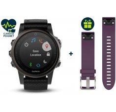 Garmin Fenix 5S GPS Multisports Sapphire Black + Bracelet Offert