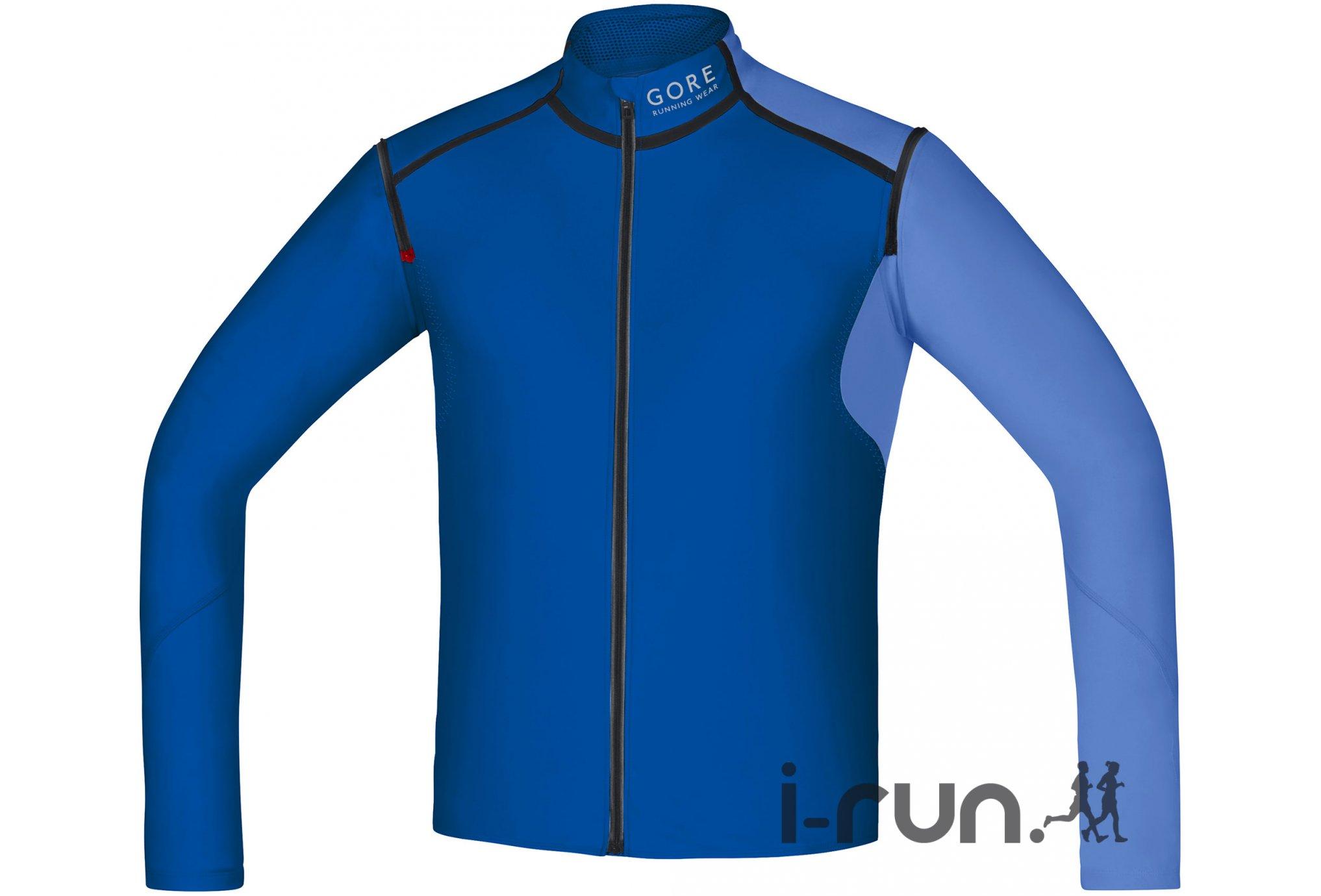 Gore Running Wear Veste Fusion WindStopper Soft Shell Zip-Off M v�tement running homme