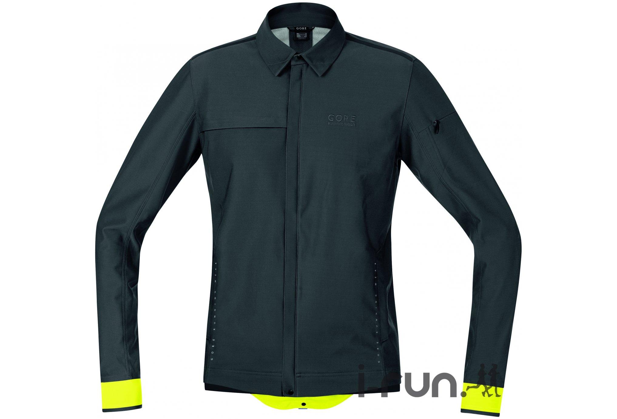 Gore Running Wear Veste Urban Run Windstopper Soft Shell M Diététique Vêtements homme