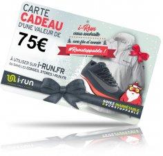 i-run.fr Carte Cadeau 75 Spéciale Noël - T