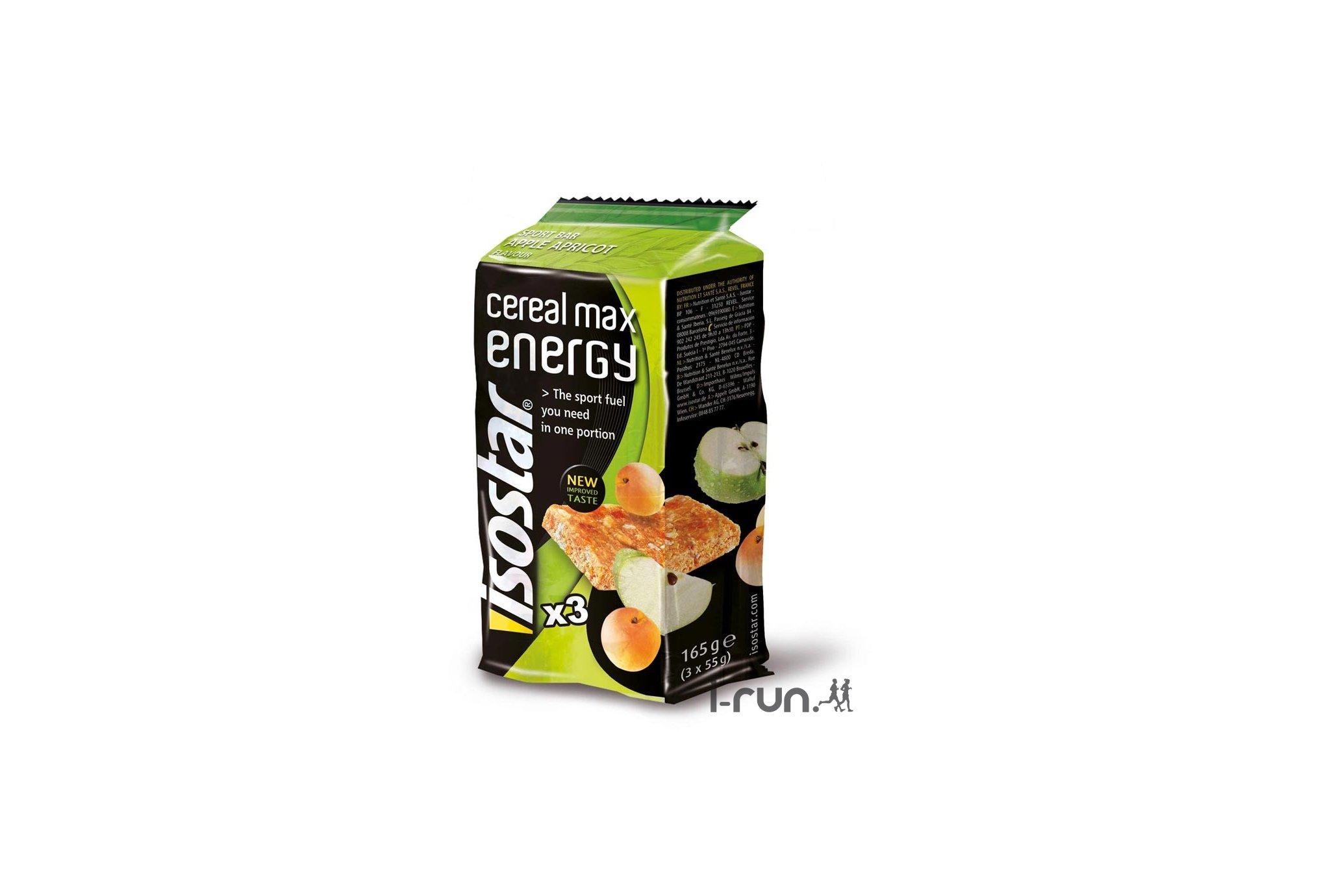 Isostar Barres Cereal Max Energy - Pomme/Abricot Diététique Barres