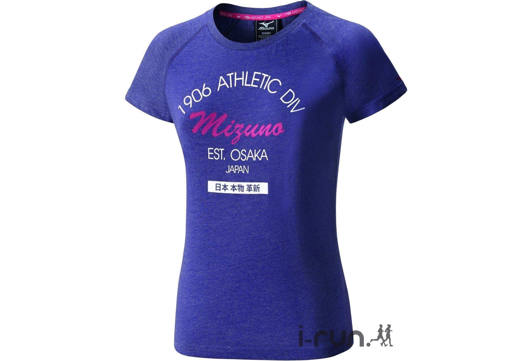 Mizuno Tee-Shirt Heritage W vêtement running femme