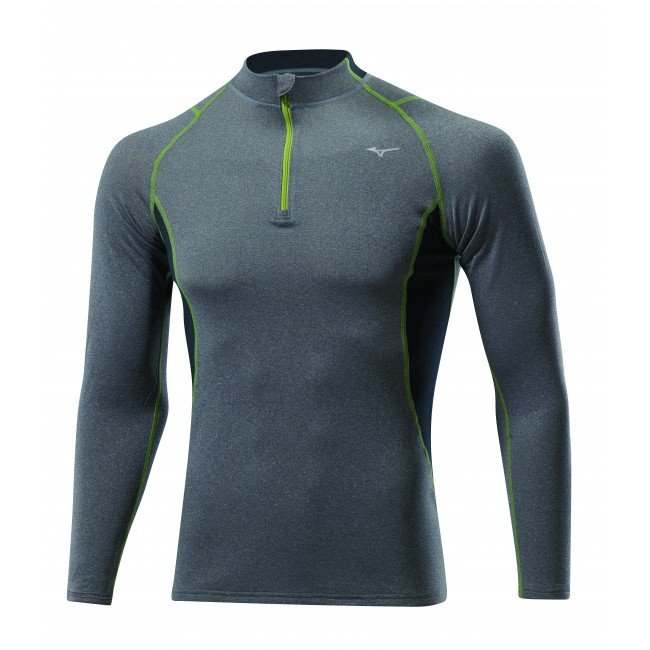 Mizuno Tee-Shirt Merino Wool 1/2 Zip M v�tement running homme