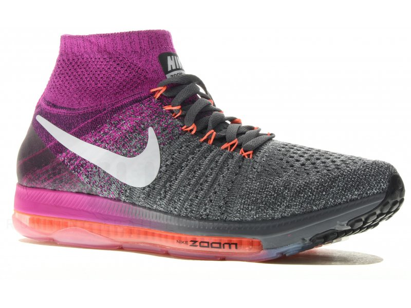 Nike Air Zoom All Out Flyknit W pas cher - Chaussures running femme running  Route en promo