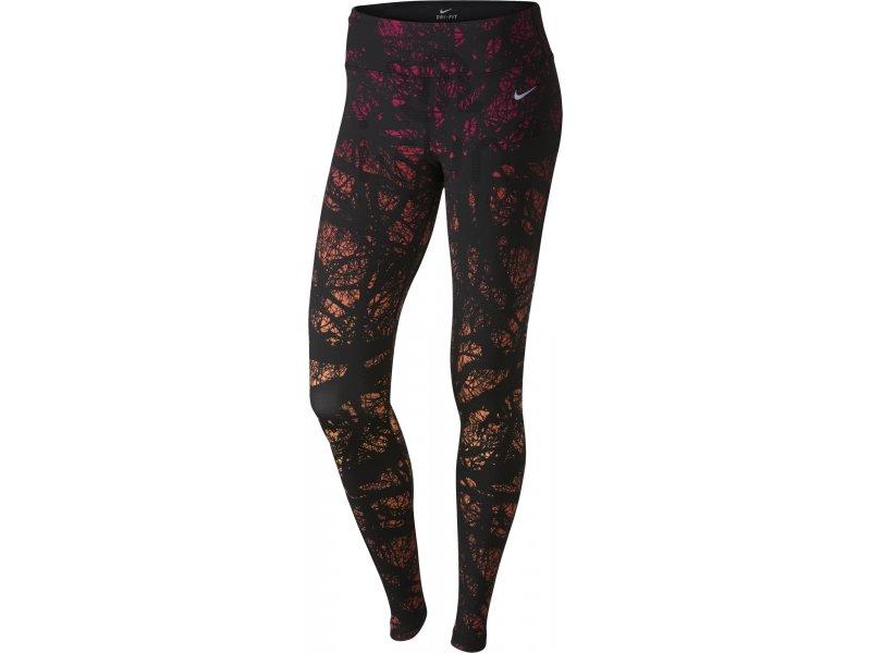 nike collant printed engineered w pas cher v tements femme running collants pantalons en promo. Black Bedroom Furniture Sets. Home Design Ideas