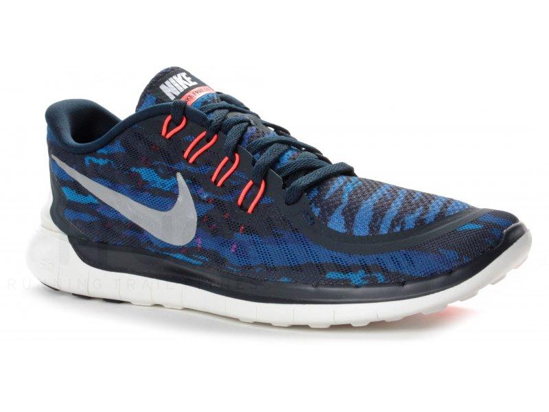 Nike Free run 5.0 bleu marine .