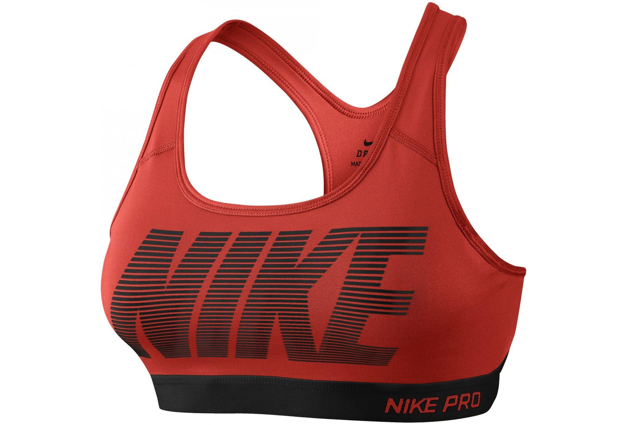Nike Pro Brassière Classic Padded Graphic W Diététique Vêtements femme
