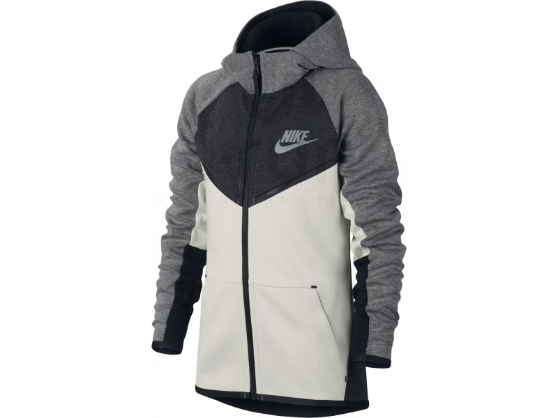 Nike Veste à Capuche FZ NSW Tech Fleece Windrunner BleuGrisNoir