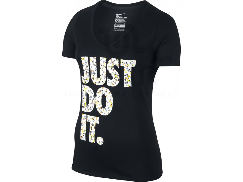 nike tee shirt dri fit coton just do it w v tements femme running fitness training nike tee. Black Bedroom Furniture Sets. Home Design Ideas