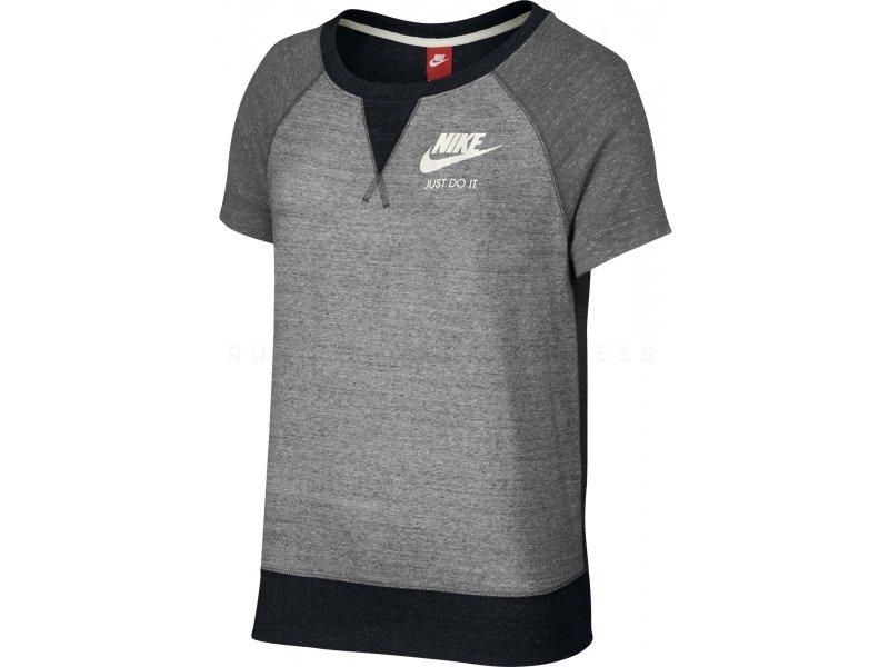 Nike Tee shirt Gym Vintage Color Block W pas cher Vêtements femme running Sportswear en promo