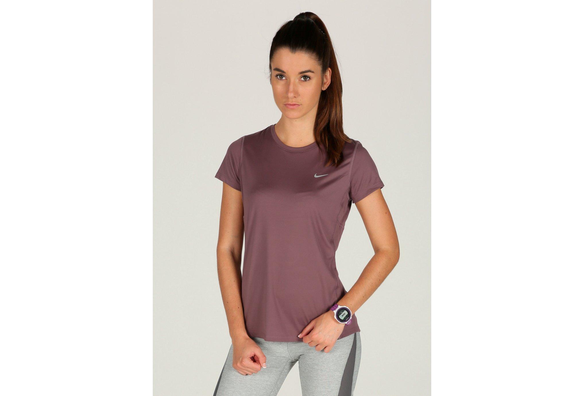 Nike Tee-shirt Miler W Diététique Vêtements femme