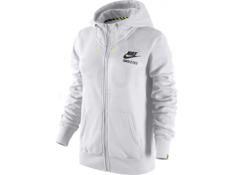 nike veste track field hoodie w pas cher v tements femme running sportswear en promo. Black Bedroom Furniture Sets. Home Design Ideas