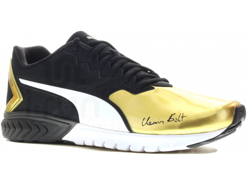 Usain Puma chaussure Chaussure Noir D Bolt Suede Bolt Y76gbyf