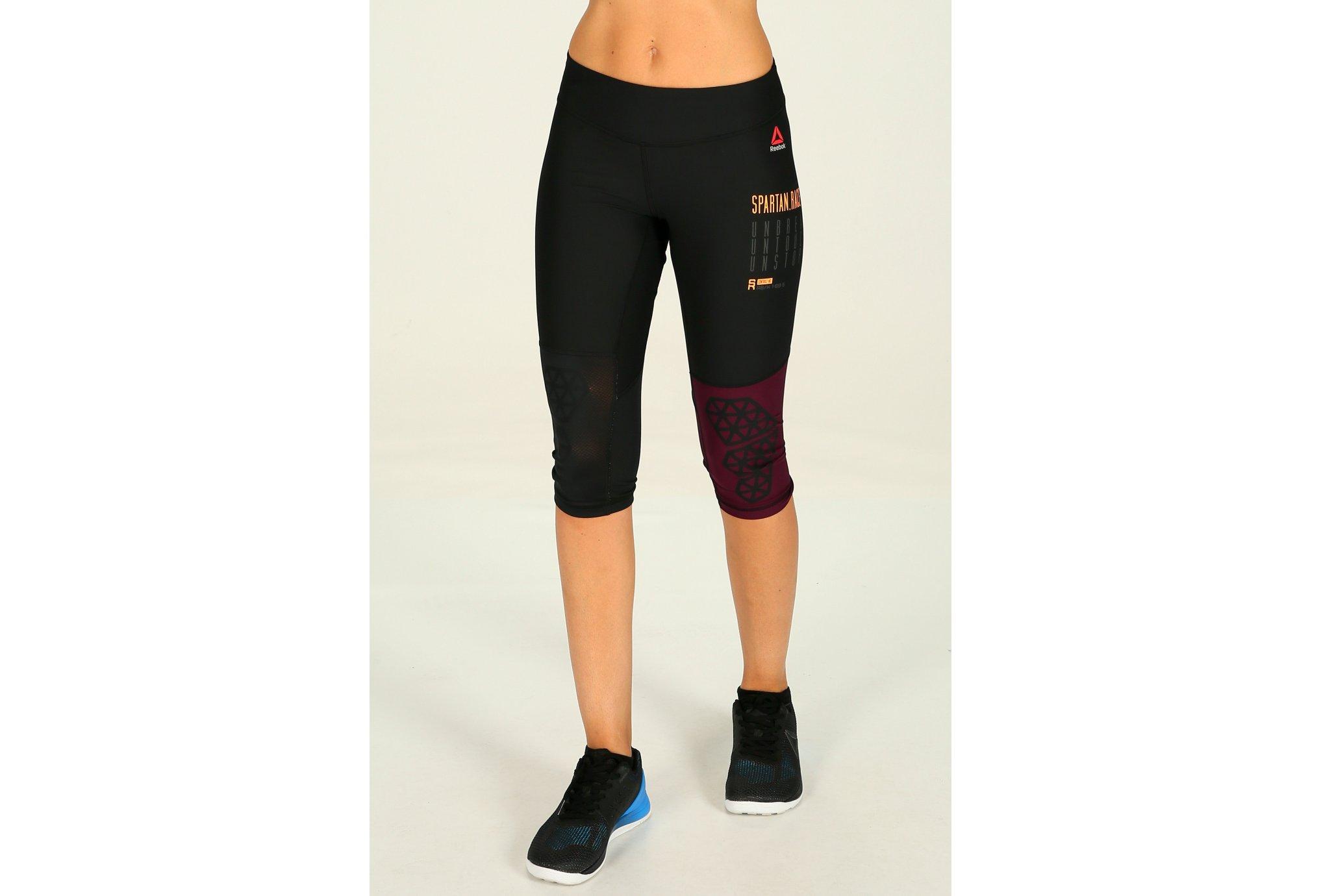 Reebok Collants 3/4 Spartan W Diététique Vêtements femme