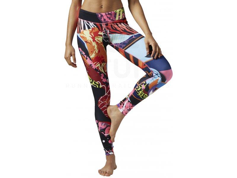 reebok legging yoga graffiti w pas cher v tements femme running fitness training en promo. Black Bedroom Furniture Sets. Home Design Ideas