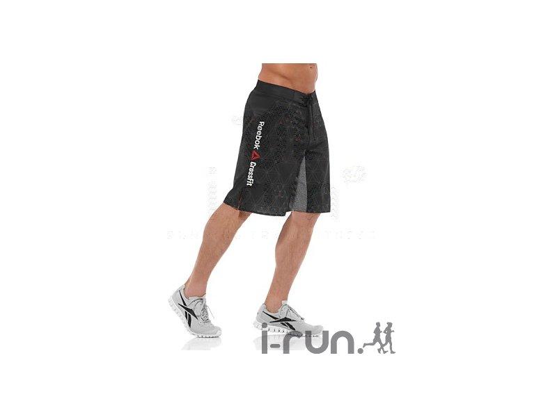 reebok short crossfit lightweight printed m v tements homme running training reebok short. Black Bedroom Furniture Sets. Home Design Ideas