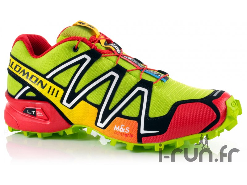 salomon speedcross 3 m pop green pas cher chaussures homme running trail en promo. Black Bedroom Furniture Sets. Home Design Ideas