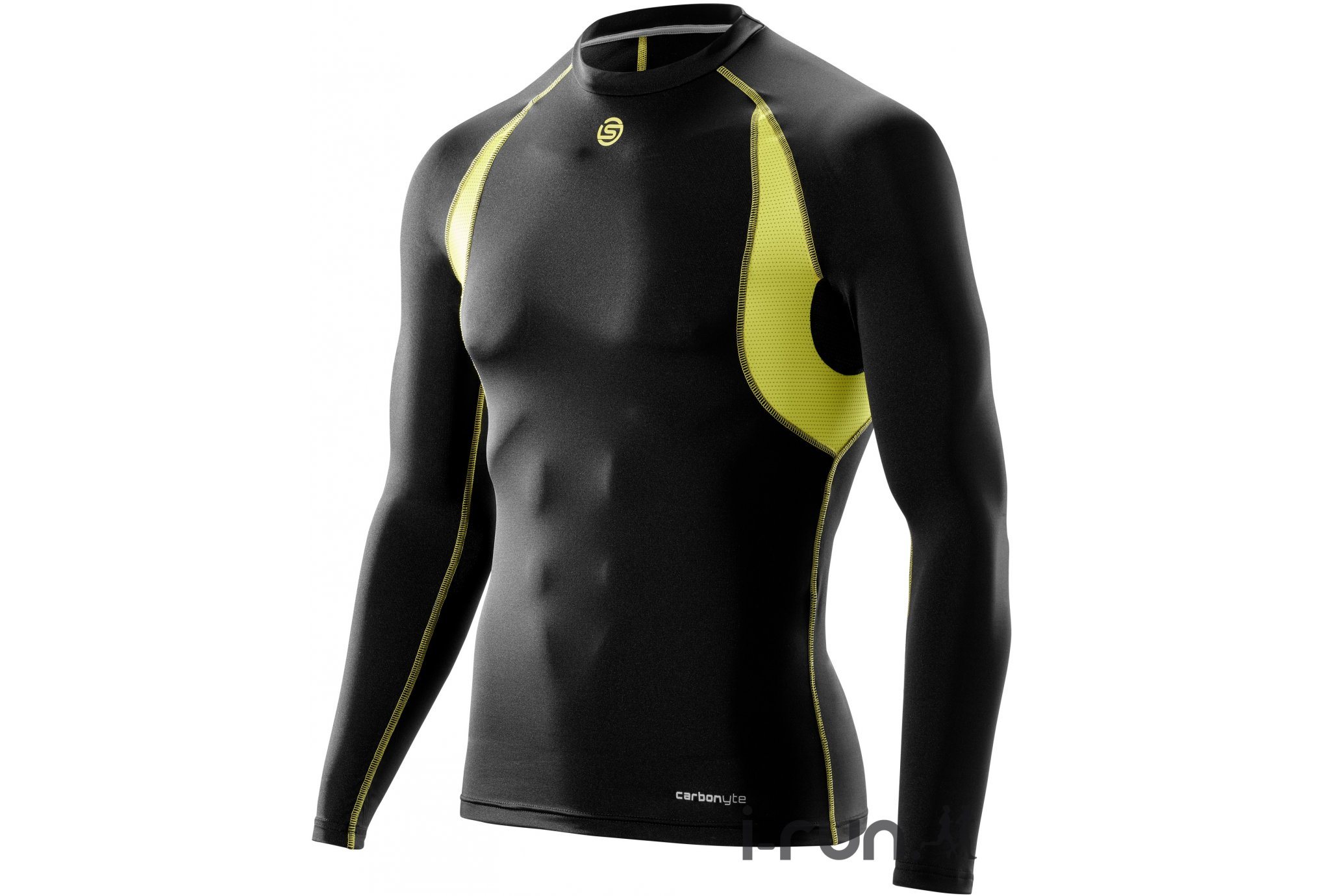 Skins Tee-shirt Carbonyte Baselayer M vêtement running homme