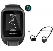 Tomtom Spark 3 Music + Casque Bluetooth - Large