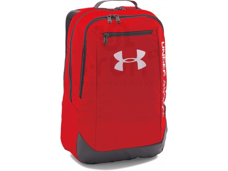 under armour sac dos hustle dwr l pas cher accessoires running sac dos en promo. Black Bedroom Furniture Sets. Home Design Ideas