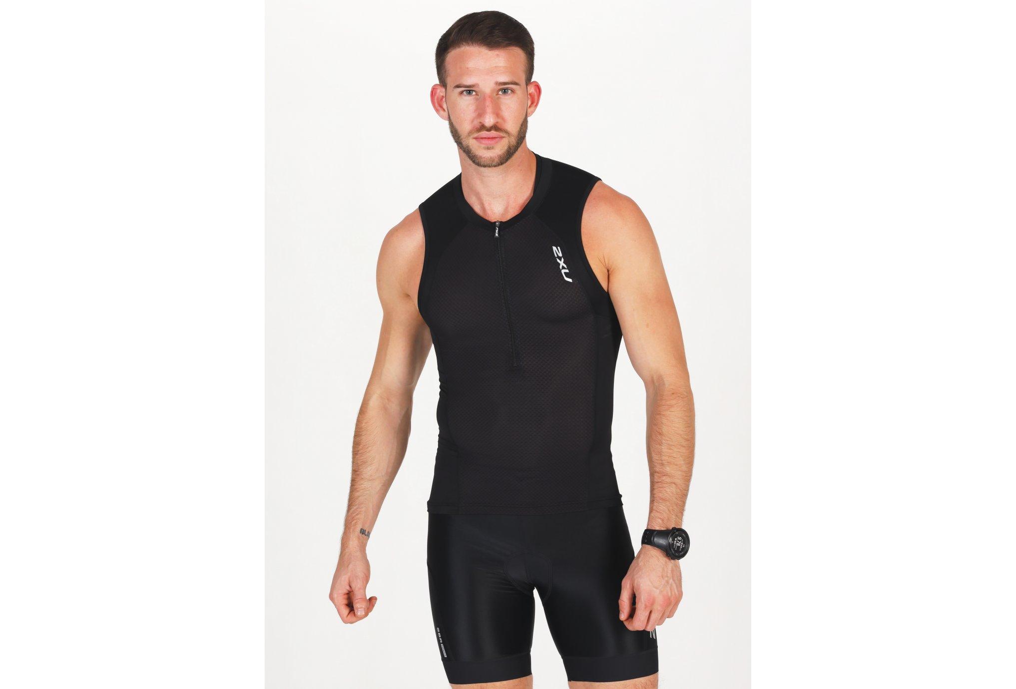 2XU Compression Tri Singlet M vêtement running homme