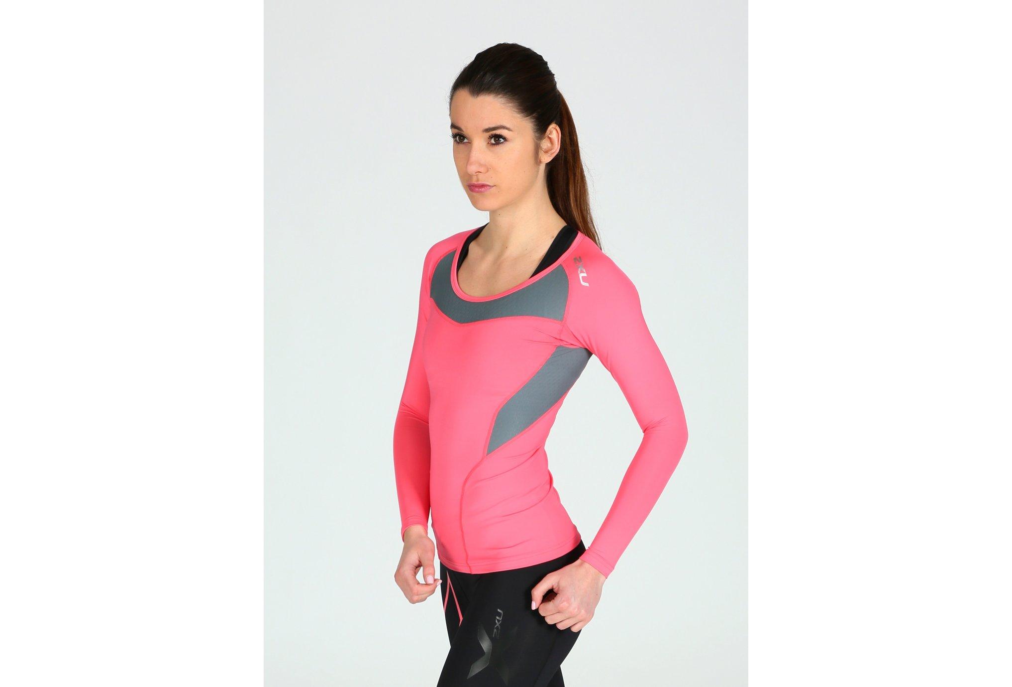 2XU Tee-Shirt L/S Xform Compression W Diététique Vêtements femme