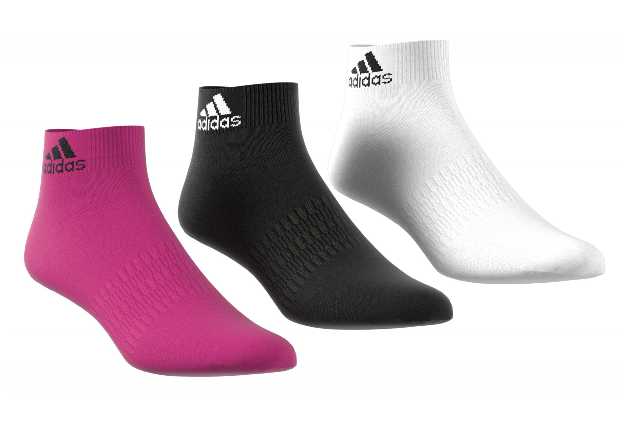 adidas 3 paires Ankle Light Chaussettes