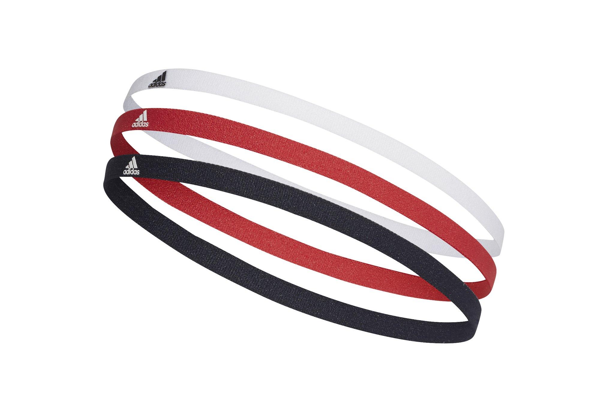 Adidas Élastiques hairbands x 3 casquettes / bandeaux