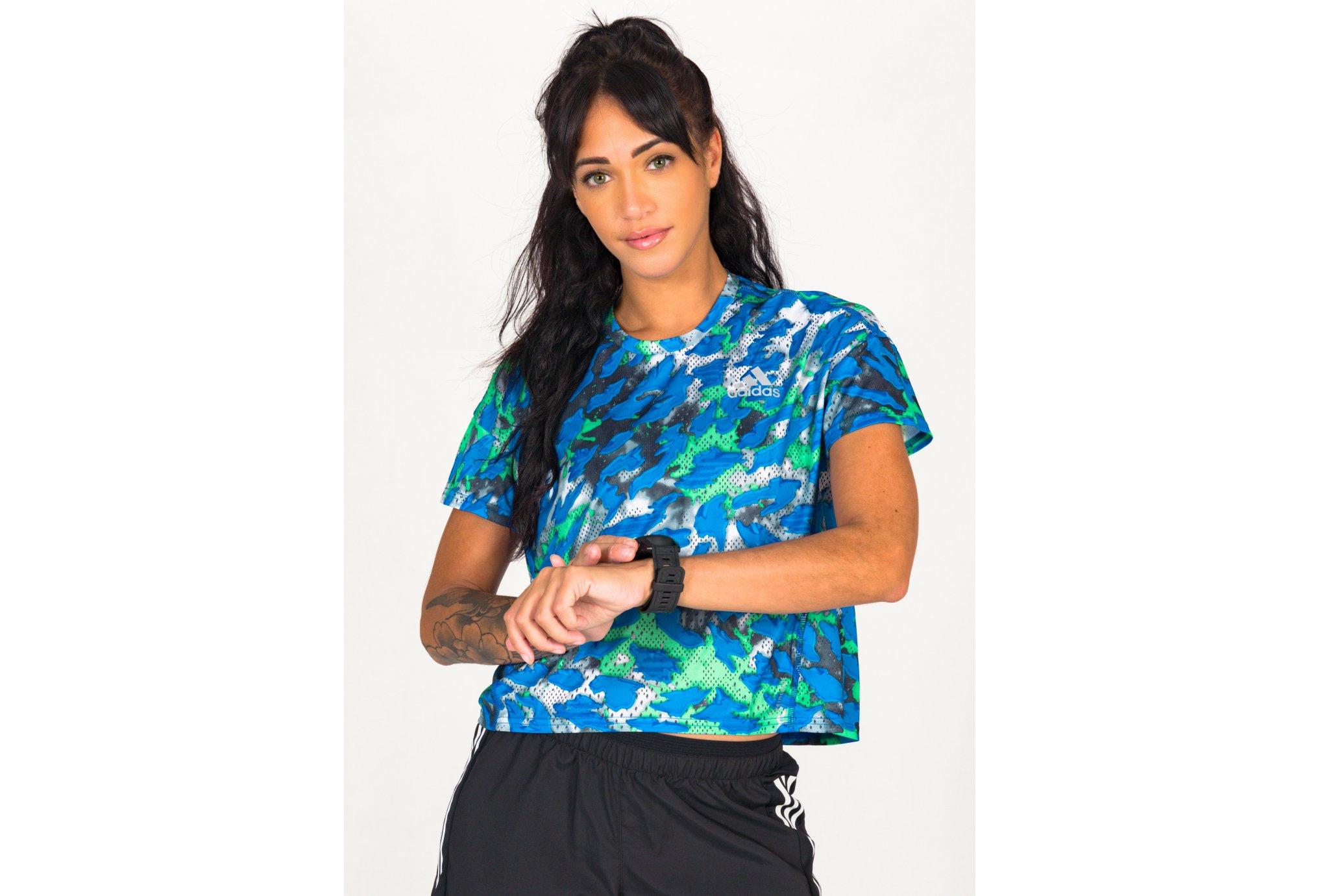 adidas FAST AOP Primeblue W vêtement running femme