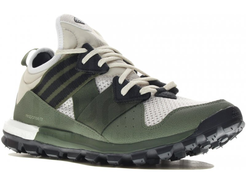 62ef5823d8044 adidas Response Trail Boost M homme Blanc pas cher