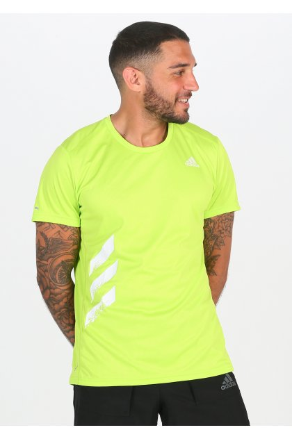 adidas camiseta manga corta Run It 3-Stripes PB