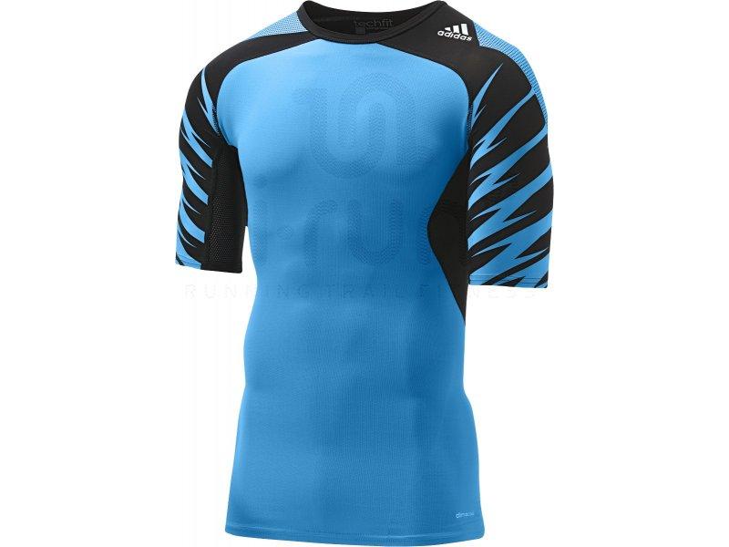 adidas Tee shirt TechFit Cool Graphic M Vêtements homme Compression