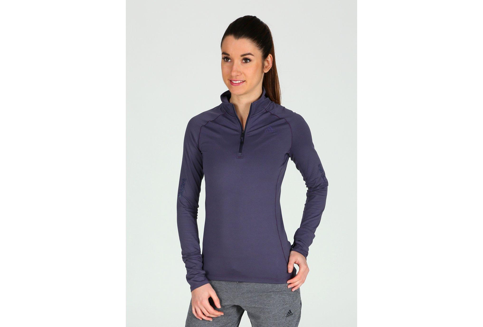 Adidas Supernova 1/2 zip w vêtement running femme