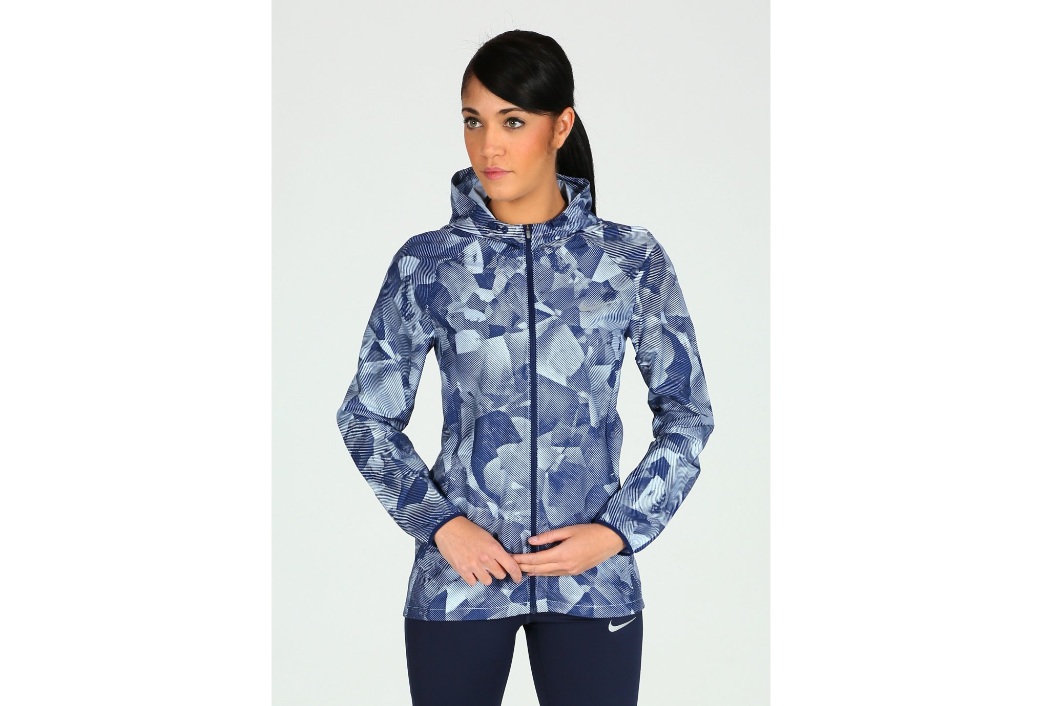 Nike essential hooded print w vêtement running femme