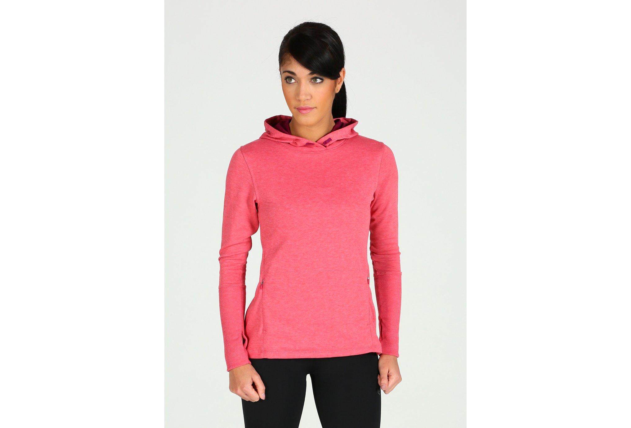 Asics Fuzex crossback hoodie w vêtement running femme