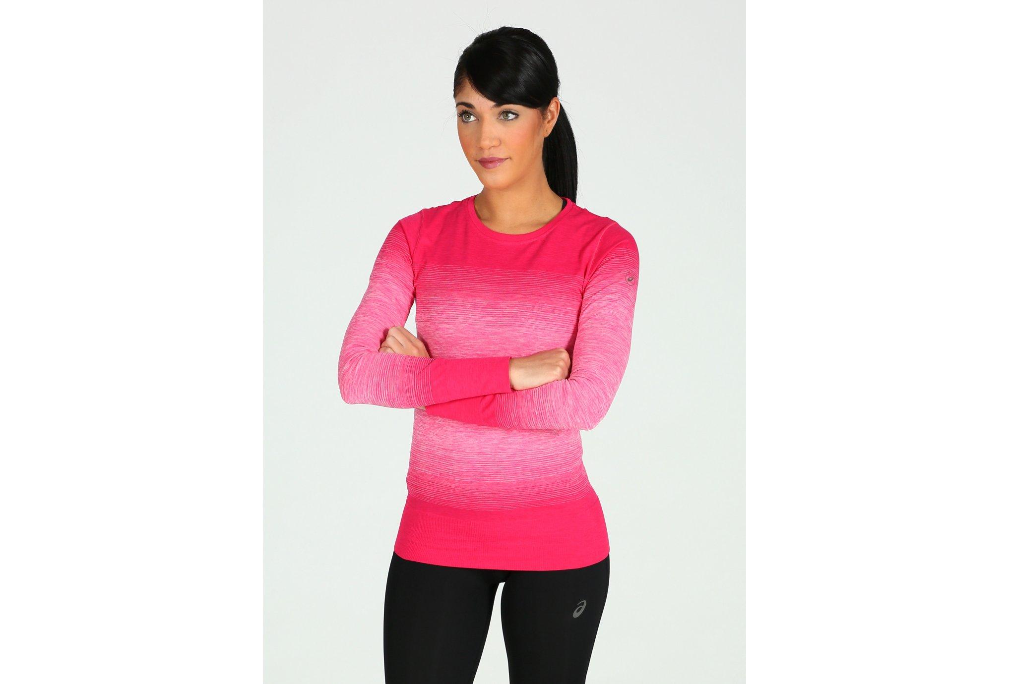 Asics Fuzex seamless ls w vêtement running femme